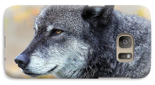 Galaxy Case featuring the photograph Wolf by Steve McKinzie