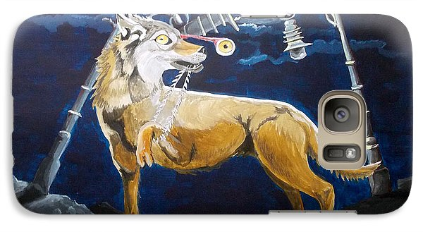 Galaxy Case featuring the painting Wolves Mouth  by Lazaro Hurtado