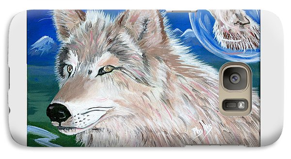 Galaxy Case featuring the painting Wolves by Phyllis Kaltenbach