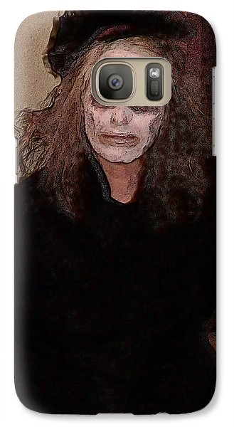 Galaxy Case featuring the digital art Woman In Black - Halloween At The Desoto House Hotel by David Blank