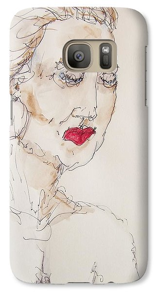 Galaxy Case featuring the painting Woman In Thought by Rand Swift