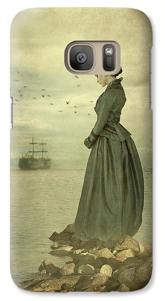 Galaxy Case featuring the photograph Woman Looking Out To Sea by Ethiriel  Photography