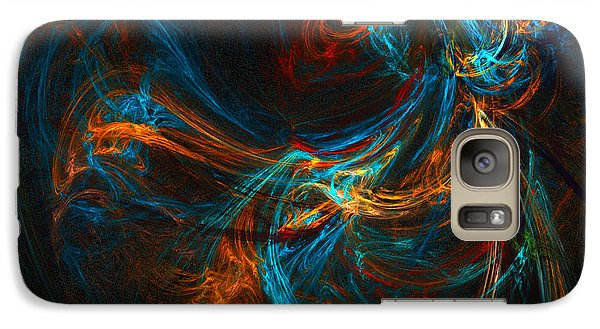 Galaxy Case featuring the digital art Woman Of Spirit by R Thomas Brass