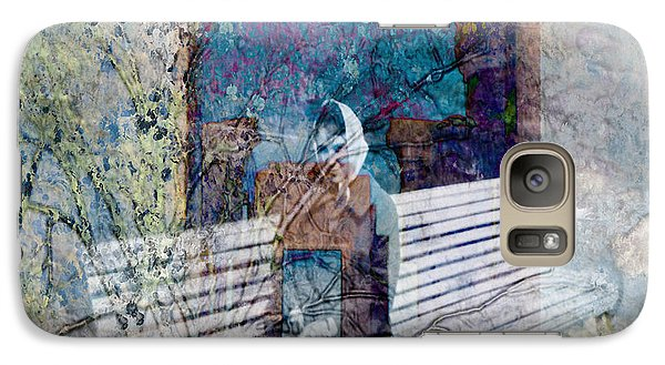 Galaxy Case featuring the digital art Woman On A Bench by Cathy Anderson
