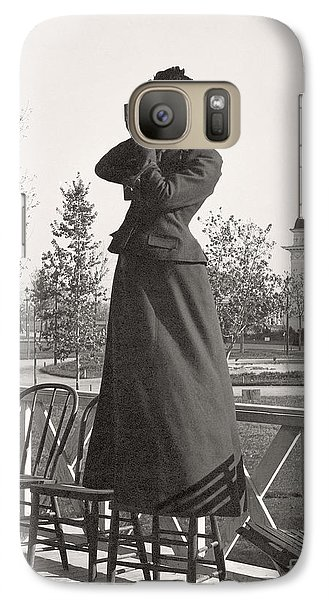 Galaxy Case featuring the photograph Woman Photographer 1898 by Martin Konopacki Restoration