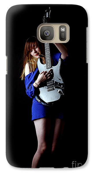 Galaxy Case featuring the photograph Woman Playing Lead Guitar by Craig B
