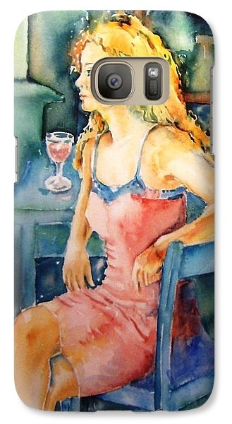 Galaxy Case featuring the painting Woman Waiting  by Trudi Doyle