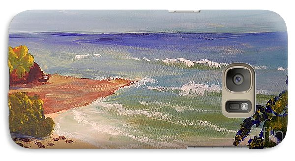 Galaxy Case featuring the painting Wombarra Beach by Pamela  Meredith