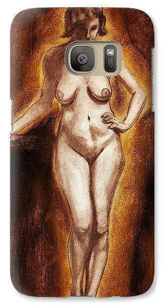 Galaxy Case featuring the drawing Women With Curves Are Beautiful 2 by Michael Cross