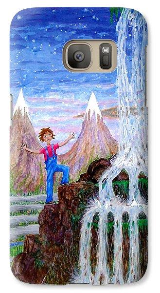 Galaxy Case featuring the painting Wonder by Matt Konar