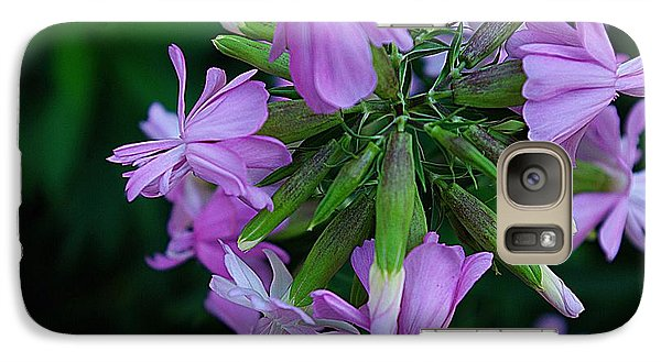 Galaxy Case featuring the photograph Wonderful Morning Flower by John S
