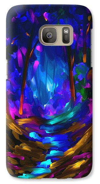 Galaxy Case featuring the painting Wondering In The Dream by Steven Lebron Langston