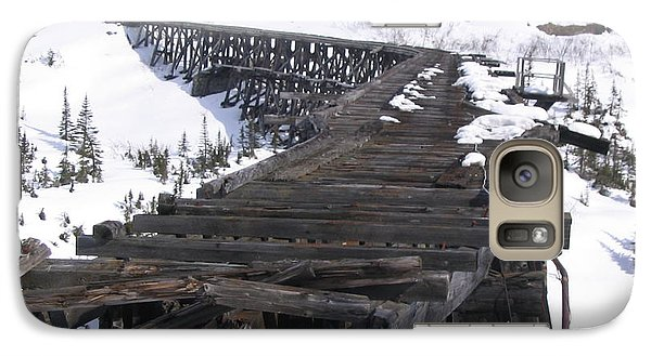 Galaxy Case featuring the photograph Wood Bridge by Brian Williamson