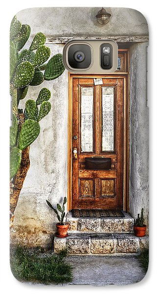 Galaxy Case featuring the photograph Wood Door In Tuscon by Ken Smith