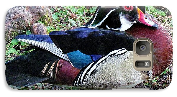 Galaxy Case featuring the photograph Wood Duck by Cynthia Guinn