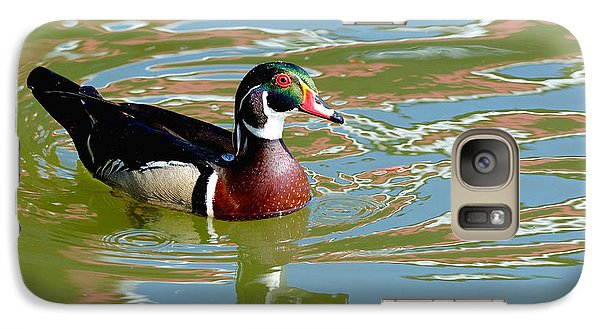 Galaxy Case featuring the photograph Wood Duck by Kathy King