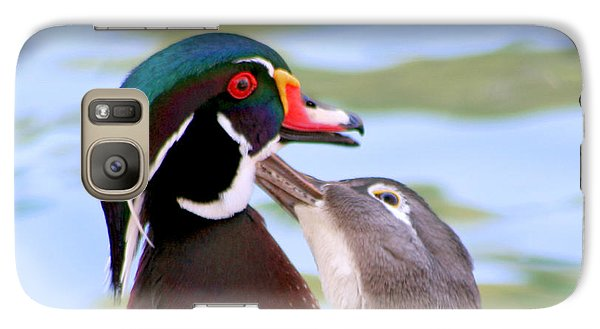 Galaxy Case featuring the photograph Wood Duck Love by Bob and Jan Shriner