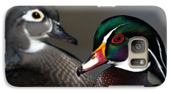 Galaxy Case featuring the photograph Wood Duck Pair by Stephen  Johnson