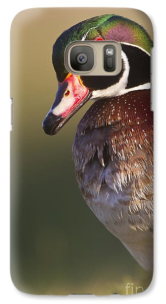 Galaxy Case featuring the photograph Wood Duck Portrait by Bryan Keil