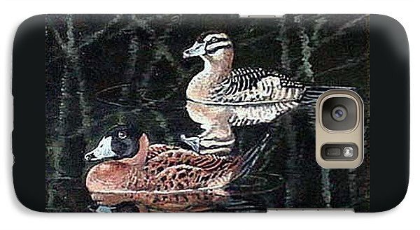 Galaxy Case featuring the painting Wood Ducks Study by Donna Tucker