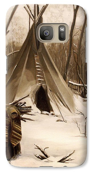 Galaxy Case featuring the painting Wood Gatherer by Nancy Griswold