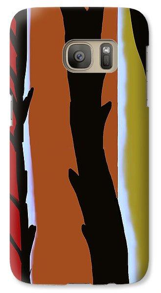 Galaxy Case featuring the digital art Wood L by Christine Fournier