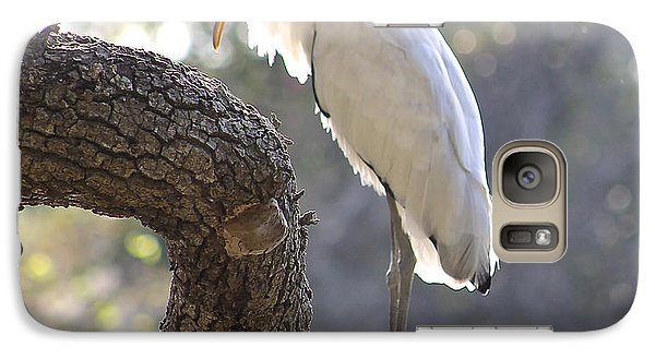 Galaxy Case featuring the photograph Wood Stork At Magnolia Cemetery    Tery by Jeanne Kay Juhos