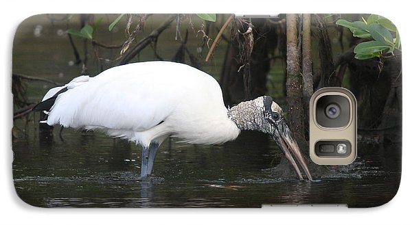 Galaxy Case featuring the photograph Wood Stork In The Swamp by Christiane Schulze Art And Photography