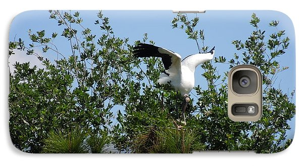 Galaxy Case featuring the photograph Wood Stork by Ron Davidson