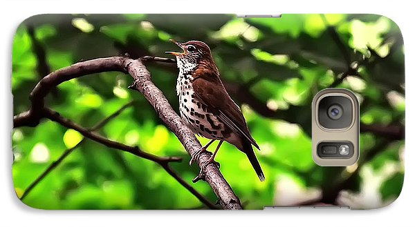 Wood Thrush Singing Galaxy S7 Case