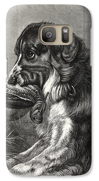 Woodcock-shooting, Hunt, Hunting, Dog Galaxy S7 Case by English School