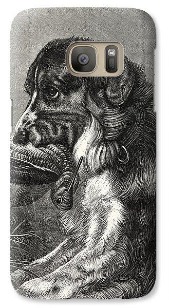 Woodcock-shooting, Hunt, Hunting, Dog Galaxy S7 Case by English School