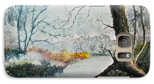 Galaxy Case featuring the painting Wooded Stream by Carolyn Rosenberger