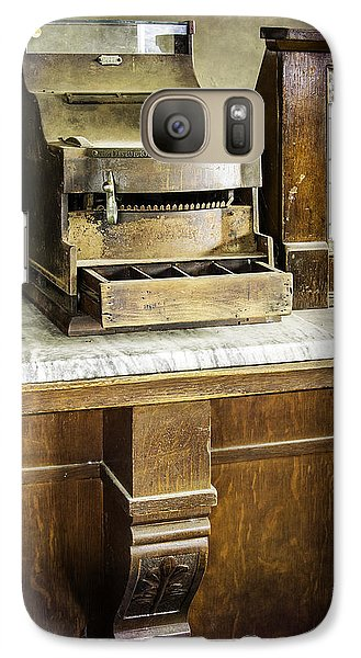 Galaxy Case featuring the photograph Wooden Bank Cash Register by Betty Denise
