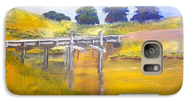 Galaxy Case featuring the painting Wooden Bridge At Graften by Pamela  Meredith