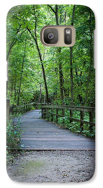 Galaxy Case featuring the photograph Wooden Bridge by Wayne Meyer