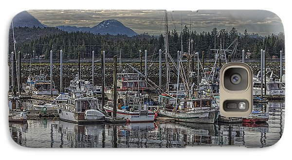 Galaxy Case featuring the photograph Wooden Fishing Boats by Timothy Latta