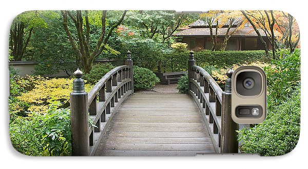 Galaxy Case featuring the photograph Wooden Foot Bridge In Japanese Garden by JPLDesigns