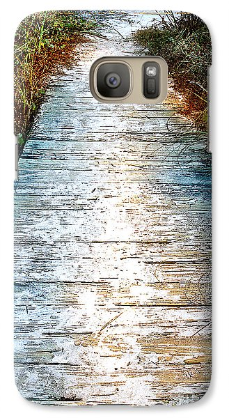 Galaxy Case featuring the photograph Wooden Path by Linda Olsen