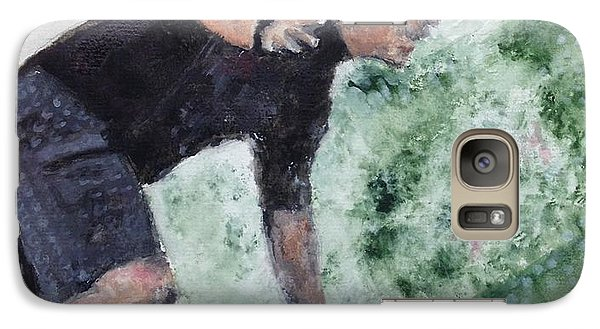 Galaxy Case featuring the painting Wooden Pier by Stan Tenney