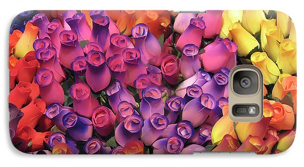 Galaxy Case featuring the photograph Wooden Roses by Geraldine Alexander