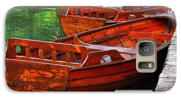 Galaxy Case featuring the photograph Wooden Rowboats by Ramona Johnston
