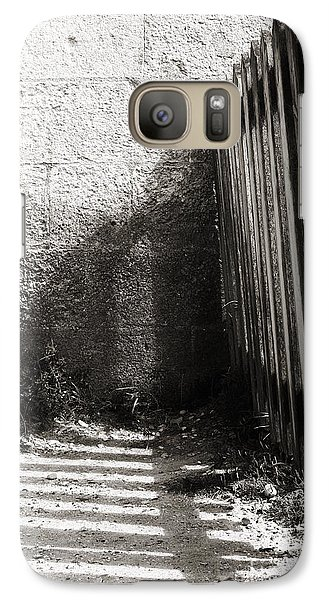 Galaxy Case featuring the photograph Wooden Shadow by Cendrine Marrouat