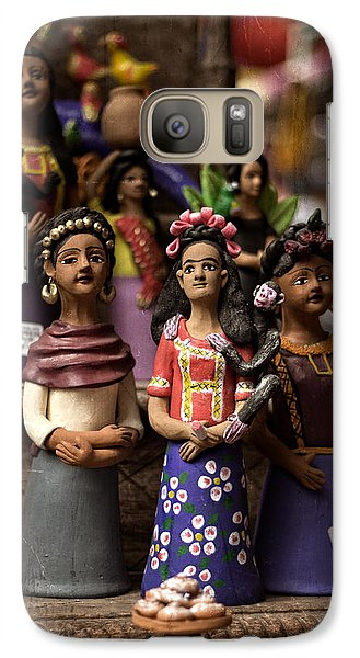 Galaxy Case featuring the photograph Wooden Women Of South America by Dave Garner
