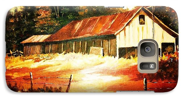 Galaxy Case featuring the painting Woodland Barn In Autumn by Al Brown