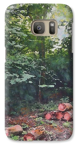 Galaxy Case featuring the painting Woodland Glade In Peebles by Richard James Digance