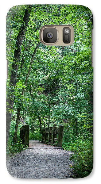 Galaxy Case featuring the photograph Woodland Trail by Wayne Meyer