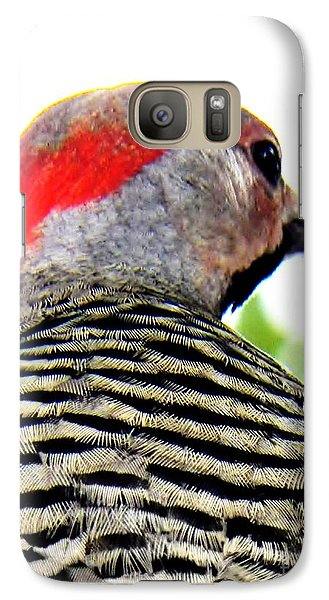 Galaxy Case featuring the photograph Woodpecker With A Red Heart by Judy Via-Wolff