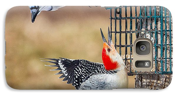 Woodpeckers And Blue Jays Square Galaxy S7 Case by Bill Wakeley