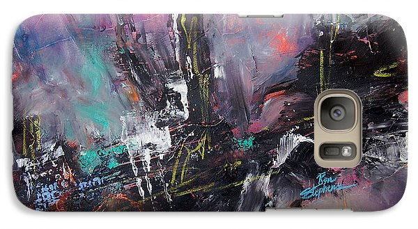 Galaxy Case featuring the painting Woods Abstract by Ron Stephens